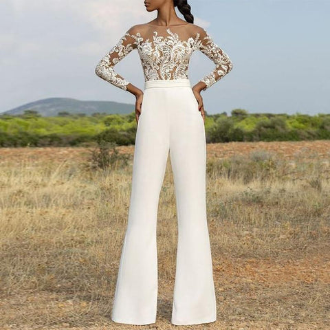 Sexy Embroidered Perspective Jumpsuit