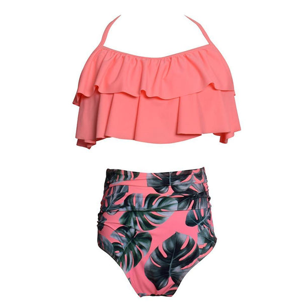 High Waist Ruffle Swimwear