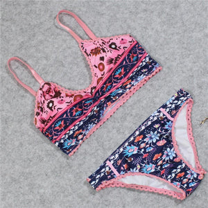 Sexy Multi-Color Printed Bikini Set