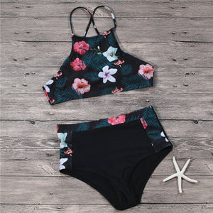 High Waist Sexy Printed Swimsuit Set