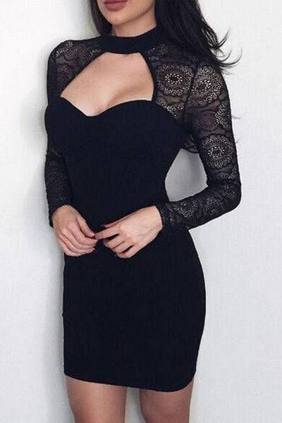 Sweet Heart  Long Sleeve Bodycon Dresses