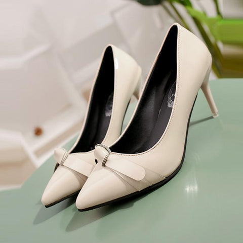 PU Leather Elegant Bowknot Shoes