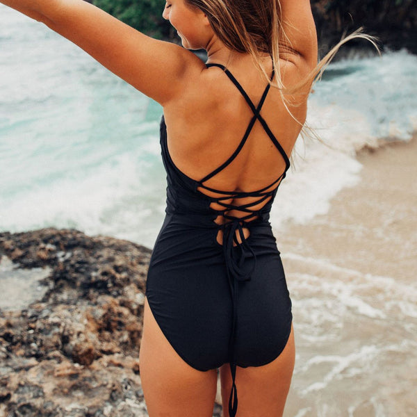 New Sexy Halter One-Piece Swimwear