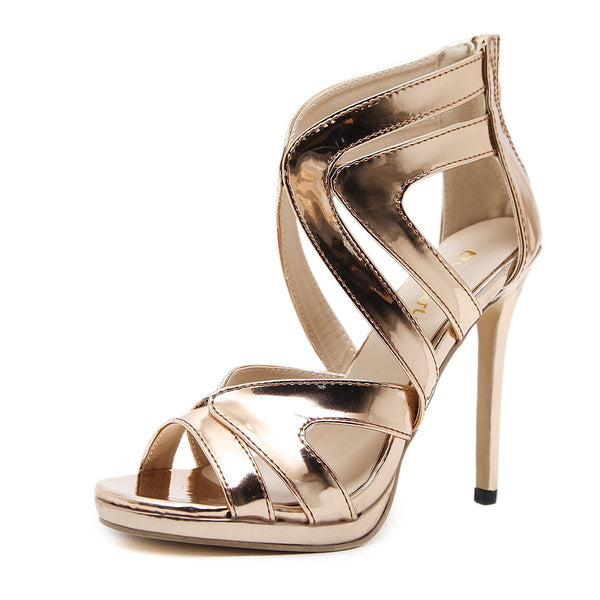 Sexy High Heel Hollow Sandals Ladies Shoes