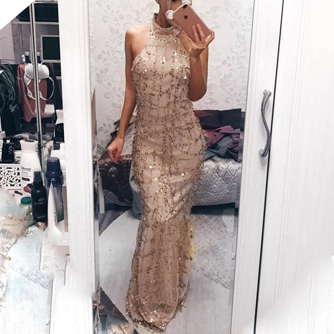 New Style Sexy  Sequins Tassel Evening Party Dress