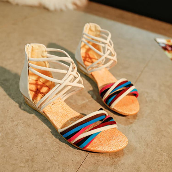 Bohemian Casual Cross Straps Beach Sandals