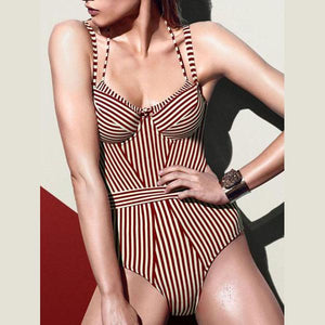 Gracybee Striped One Piece Swimwear