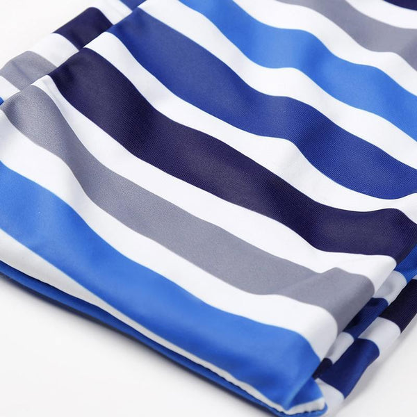 Sexy Cool Colors Stripe Swimsuit