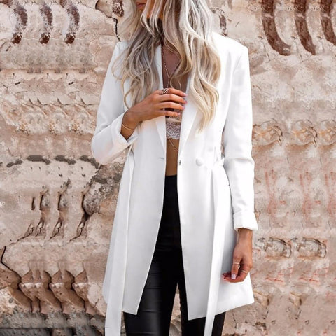 Fashion Elegant Slim Belt OL Women Blazers