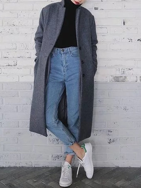 High-Waisted Wash Jeans Pants
