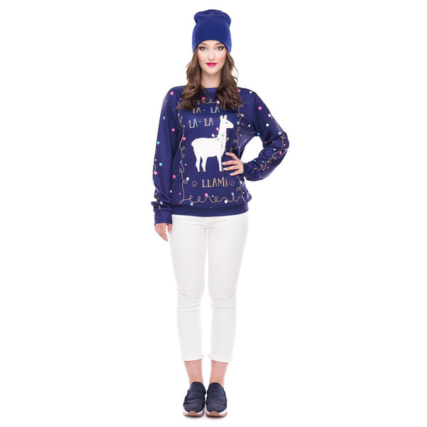 Christmas Fashion Print Pullover Sweater