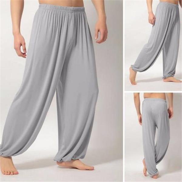 Casual Fashion Loose Solid Color Elastic Waist Men Pants