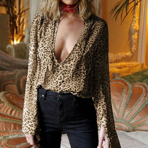 Fashion Leopard Print Long Sleeve Shirt