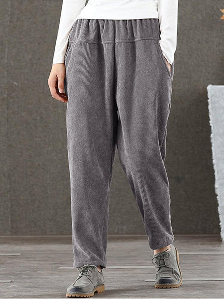 Casual Puff Long Corduroy Pant
