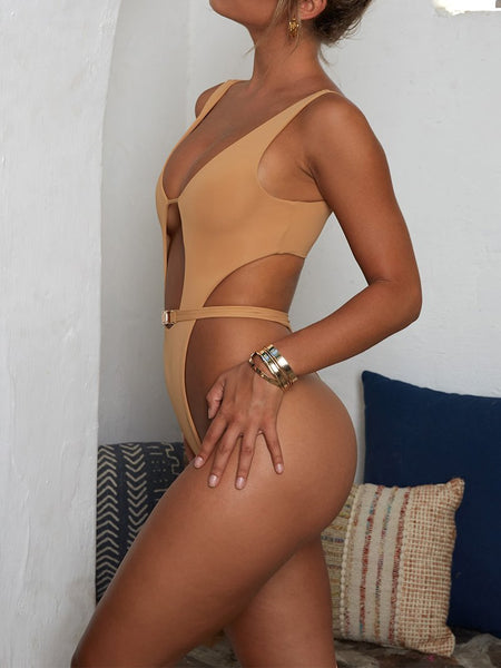 Sexy Pure Colour Piece Swimsuit