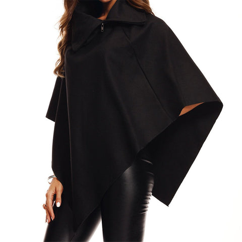 Fashion Autumn And Winter Woolen Cloak Jacket