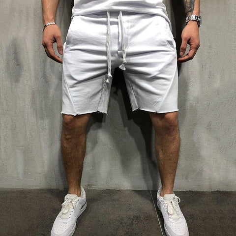 Casual Loose Plain Elastic Waist Shorts