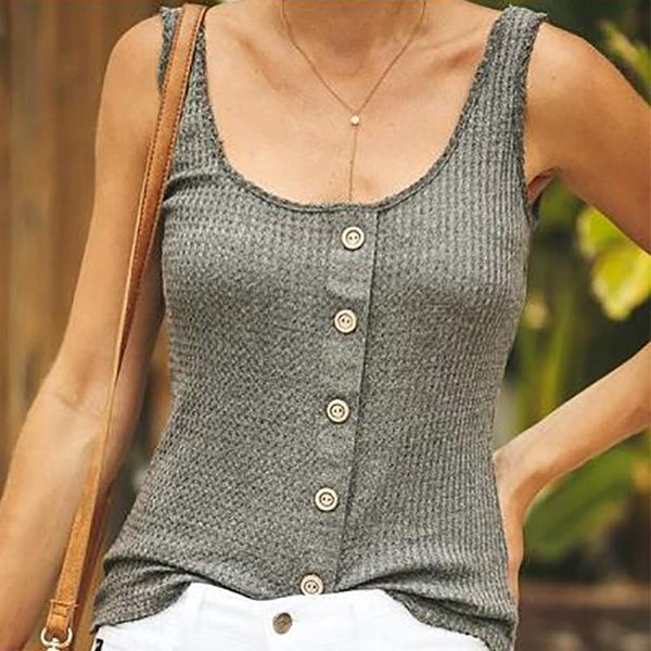 Casual Pure Colour Sleeveless Sling Vest