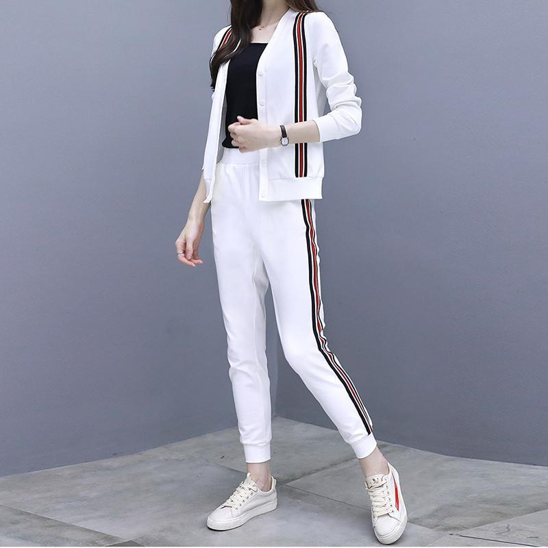 Casual Loose   Hoodies  Cardigan With Jogger   Pants  Sports Suit