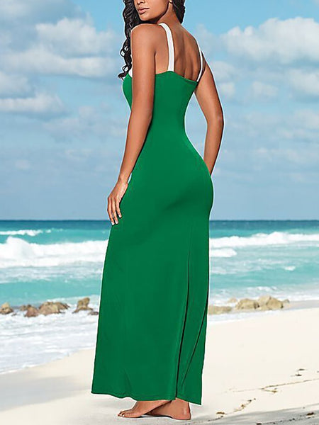 Sexy Sling Pure Colour Off-Shoulder Knitted Dresses