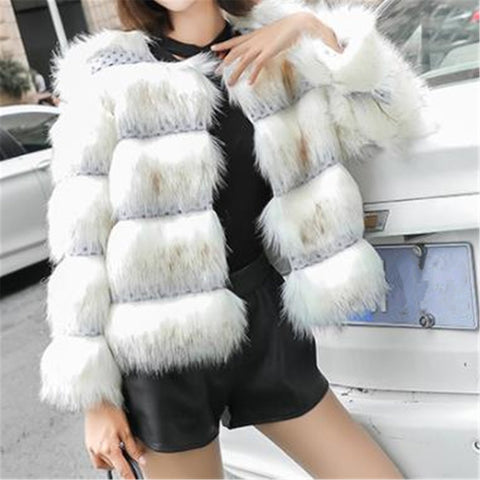 Fashion Fur Short Long Sleeve Jacket