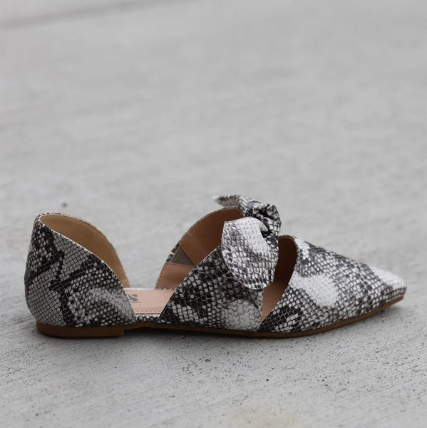 Fashion Pointed Bow Flat Shoes