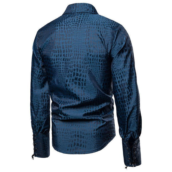 Horsewear Gentlemen's Casual Lapel Long Sleeve Shirt