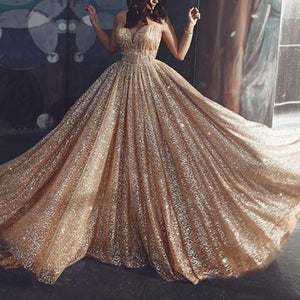 Elegant Sexy Hot Stamping Sling Prom Dress