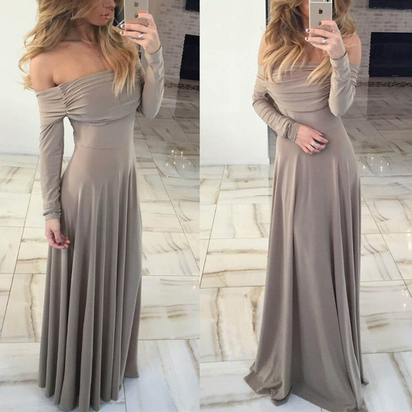 Sexy Long Sleeve Evening Dress
