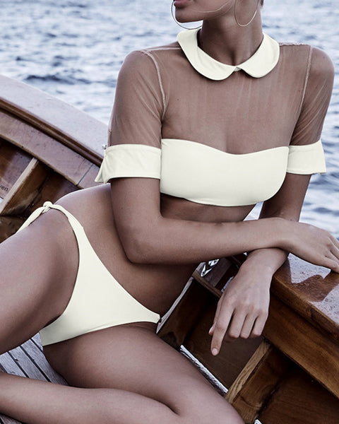 Band Collar  Plain Bikini