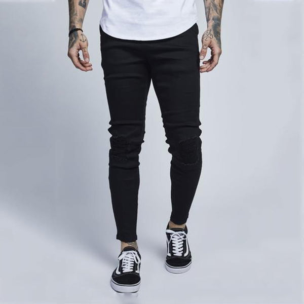 Fashion Slim Fit Plain Pants