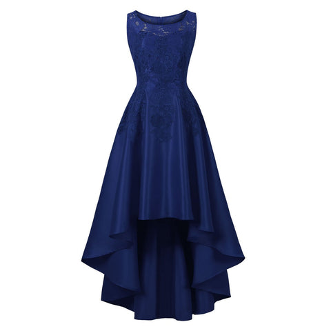 Lace Wedding Women Blue Evening Dress