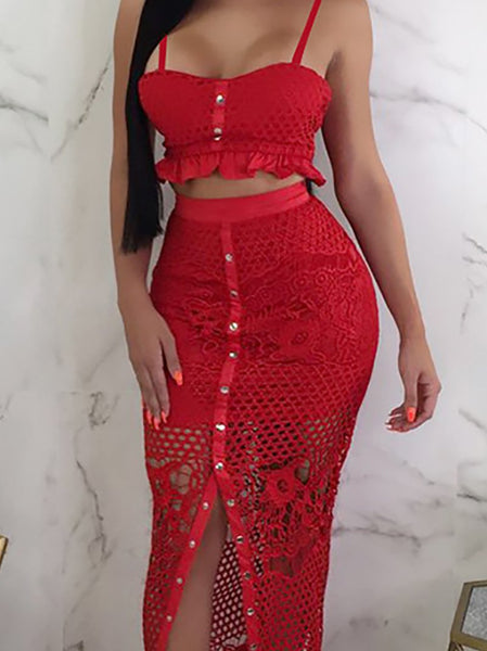 Sexy Lace Sling Pure Colour Sleeveless Bodycon Dresses