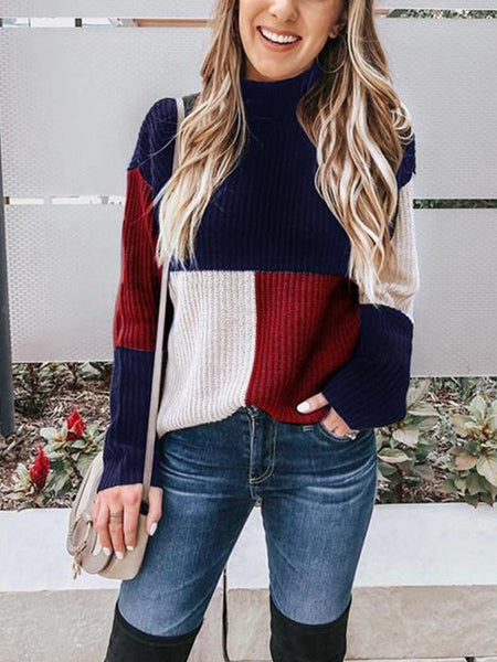 Autumn And Winter Casual Colouring Sweater