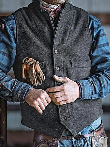 Casual Simple Slim Single-Breasted Vest