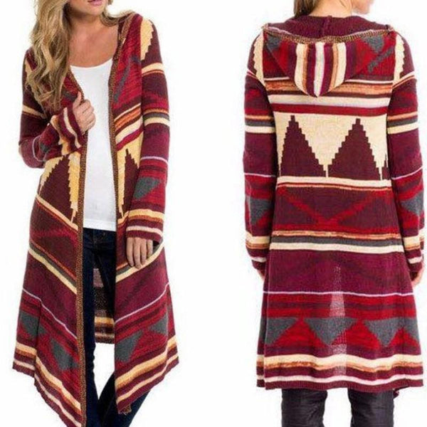 New Printed Long Cardigan Coat