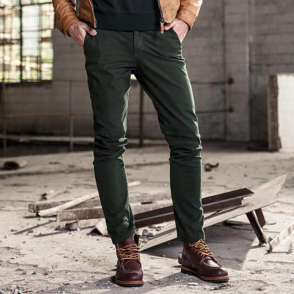 Multi-pocket overalls cotton straight men's casual pants