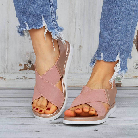 Fashion Casual Cross Elastic Sandals