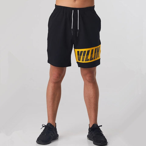 Black Gym Shorts Men Bodybuilding Fitness Short Pants Running Sports Bermuda Male Summer Casual Cotton Knee Length Sweatpants