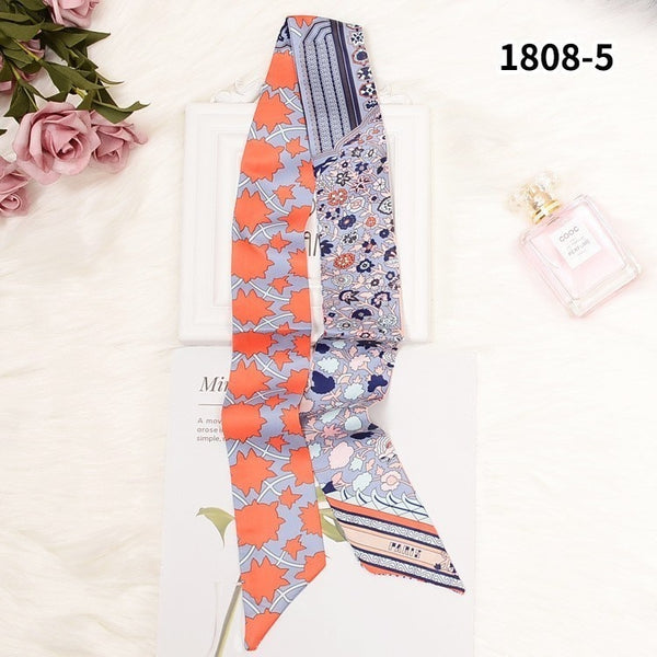 Luxury Women Sharp-angled Scarf Water Glass Cup Prints Long Wraps Scarves Shawl Handkerchief Bag Decor