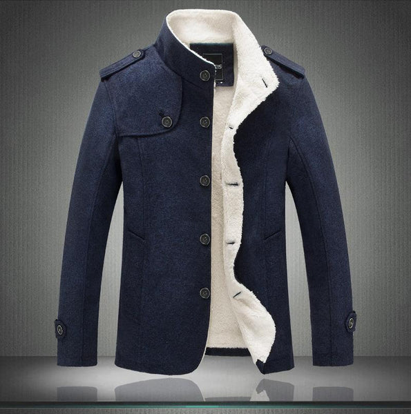 New Winter Thicken Jacket Men Casual Long Parkas Trench Coat
