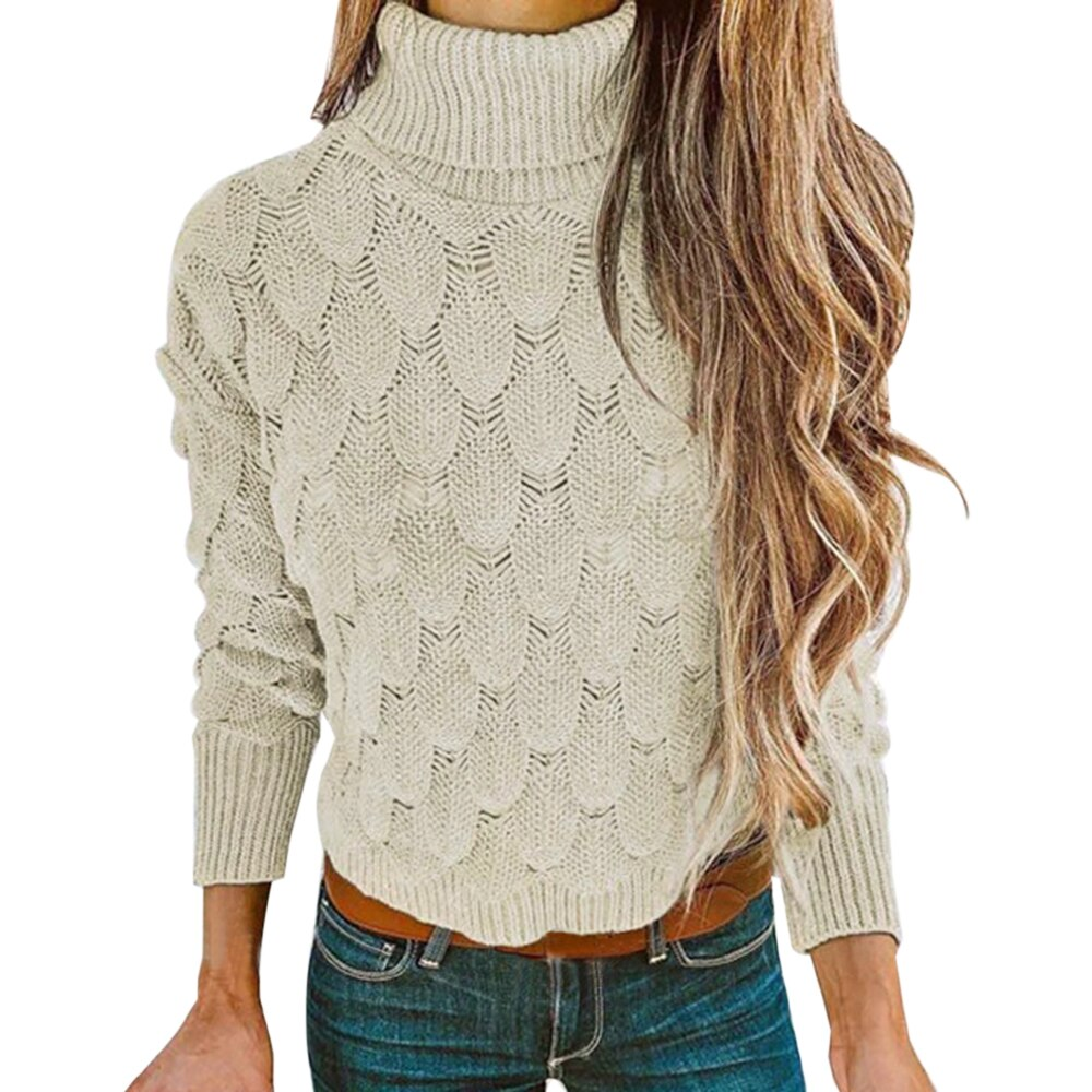 2020 Winter Pullover Sweater Women Knitted Tops Boho Plus Size Casual Long Sleeve Pull Female Solid Sweaters Pullover