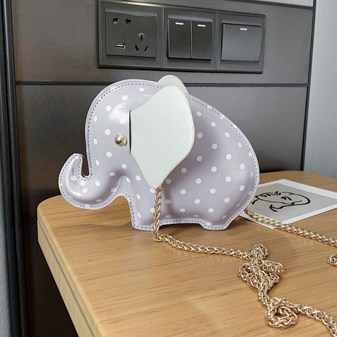 Cute 3D Dot Baby Elephant Design Fashion Girls Shoulder Chain Bag Purses and Handbags Crossbody Bag Female Clutch Bag