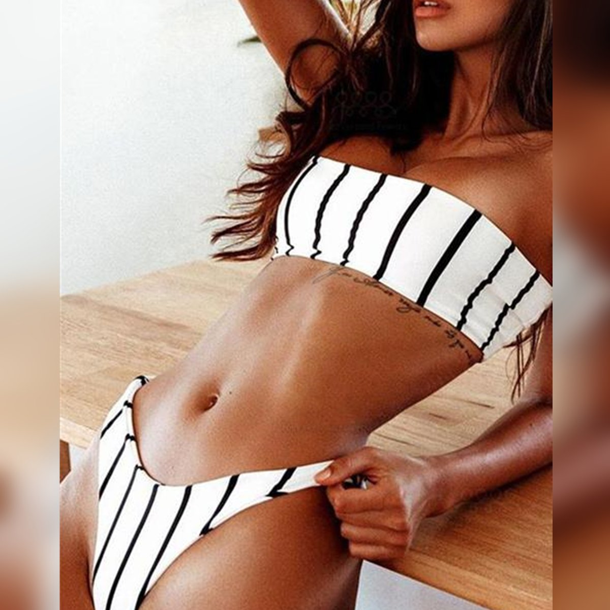 Vertical Striped Bikini