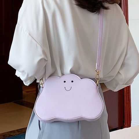 Cute Cloud Design Young Girl Shoulder Bag Purses and Handbag Casual Cross Body Messenger Bag New Women Shoulder Bag Tote Bag
