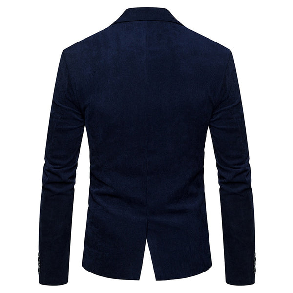 2020 New Brand Men's Suit Jackets Solid Slim Fit Single Button Dress Suits Men Fashion Casual Corduroy Blazer Men