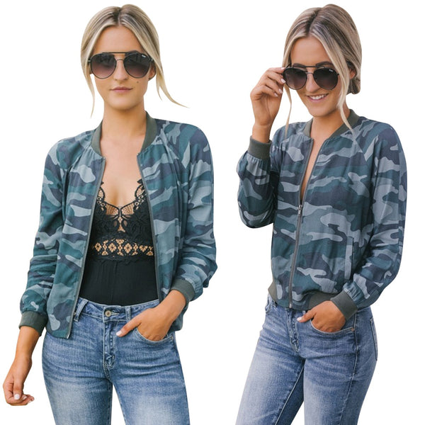 Jacket mujer Coat Women Camouflage Autumn Winter Street Jacket for Women Girl Casual Camo Bomber Baseball Jackets