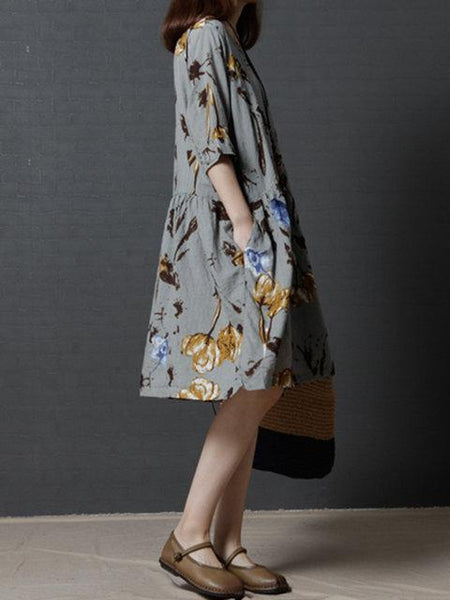 Women Shift Daily Casual Half Sleeve Printed Floral Dress