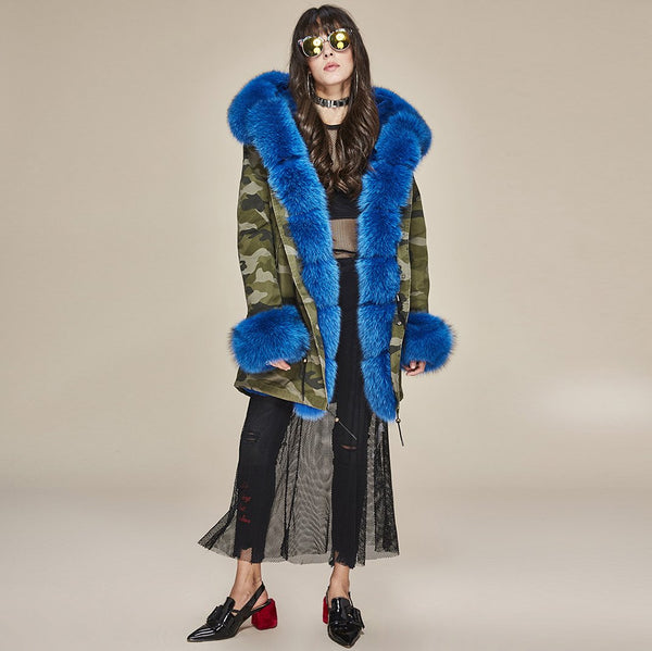 Punk Style Faux Fur Drawstring Overcoat