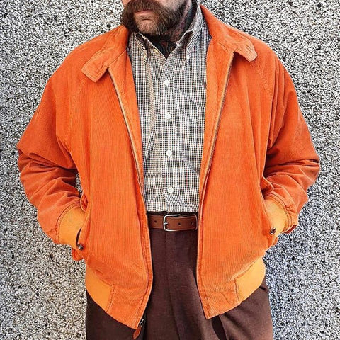 Casual Men's Corduroy Long Sleeve Coats